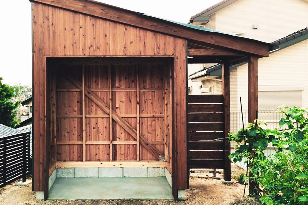 ちょっとしたスペースを倉庫や物置、収納として有効利用